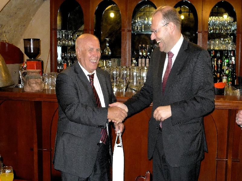 2014 Bürgerfahrt Györ Empfang mit OB in Györ